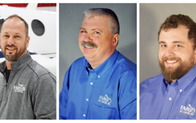 Anthony Manzella, Bill Berg, Keith Lowe Recognized for New Positions at Fargo Jet Center