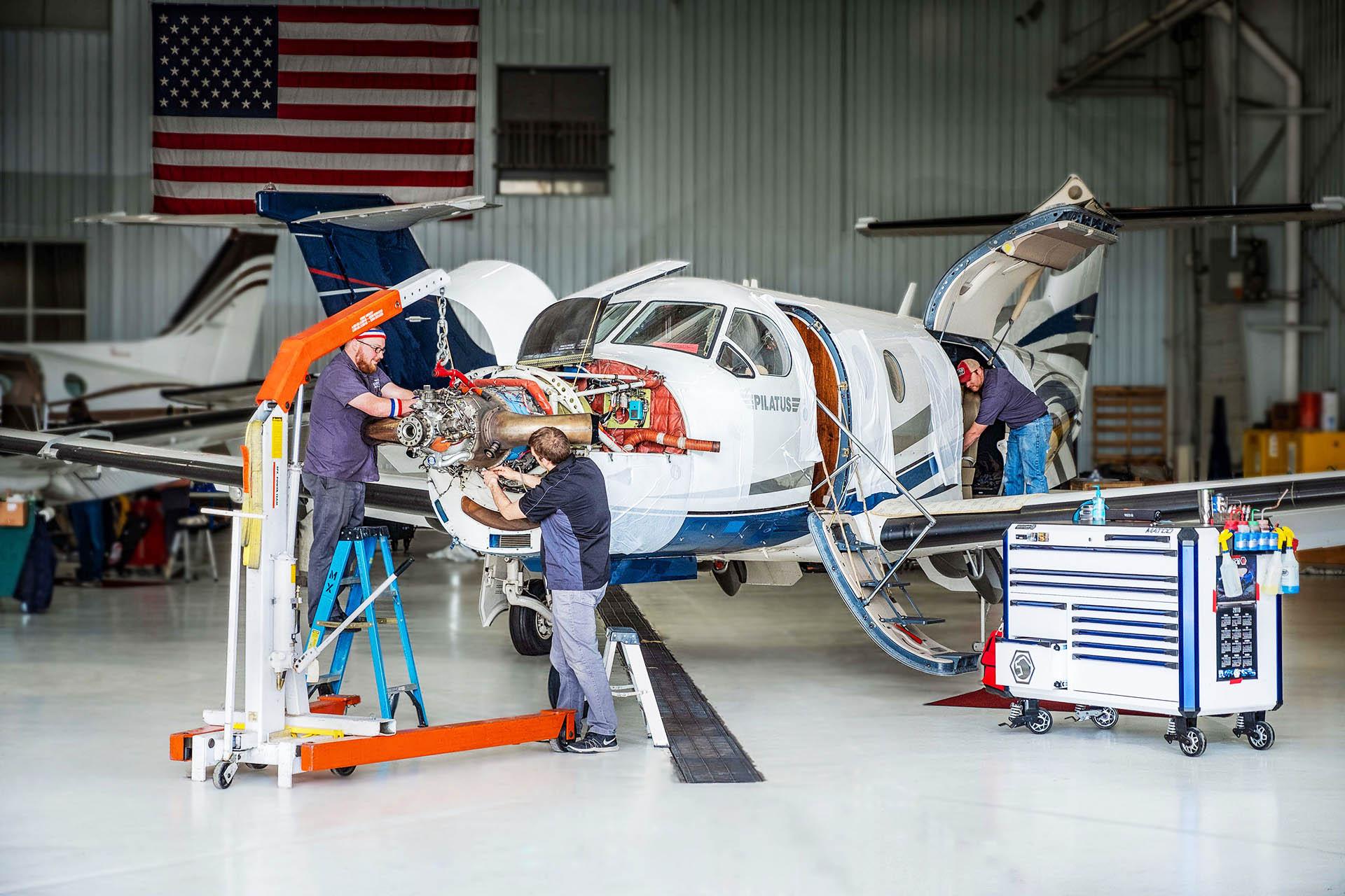 pc-12 Pilatus service fargo jet center