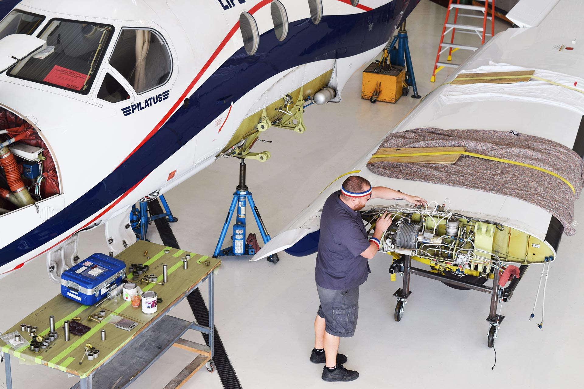 fargo jet center pc-12 pilatus service wing inspection