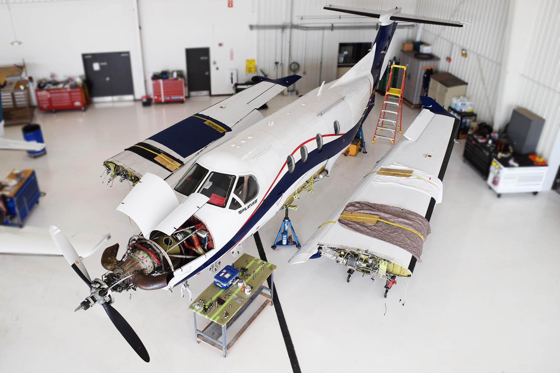 pc-12 pilatus service wing demate fargo jet center
