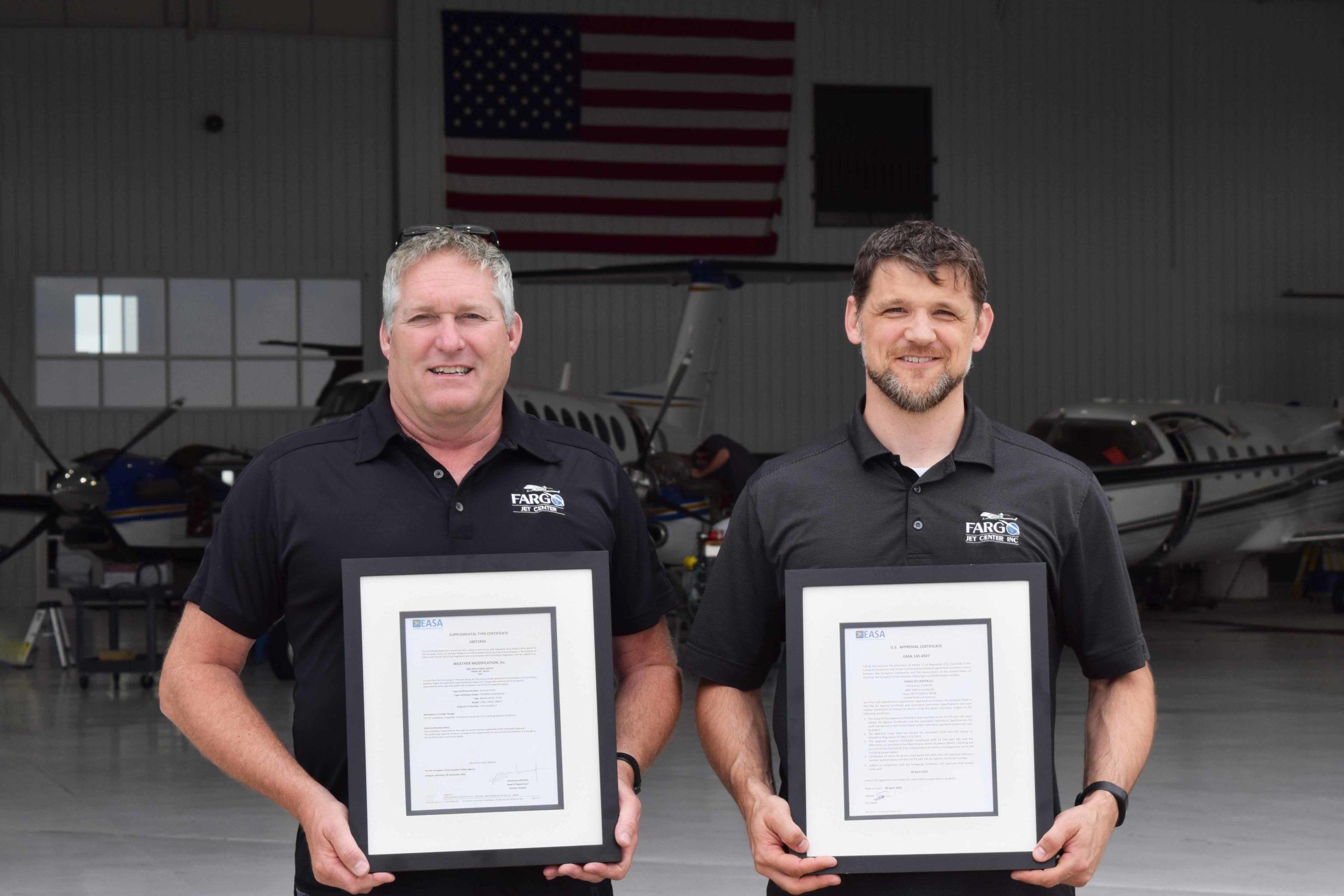 Fargo Jet Center Mike Clancy Josh Rychener EASA Certification