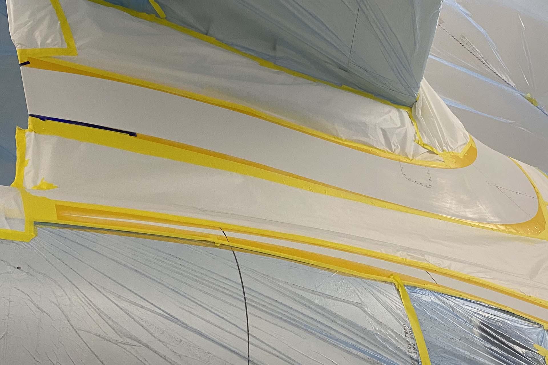 falcon 900 f900 paint in progress