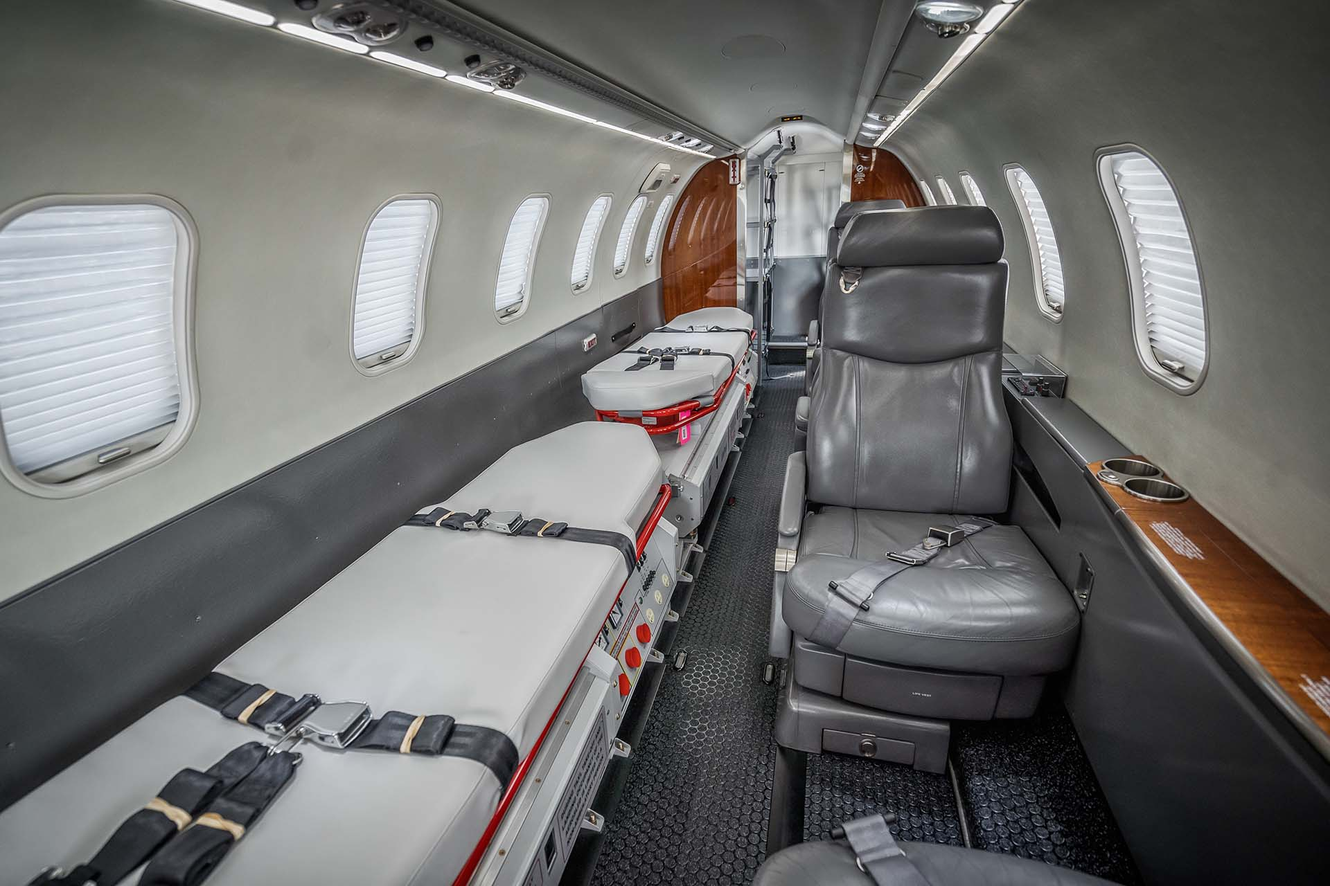 special mission lear 45 air medical modification