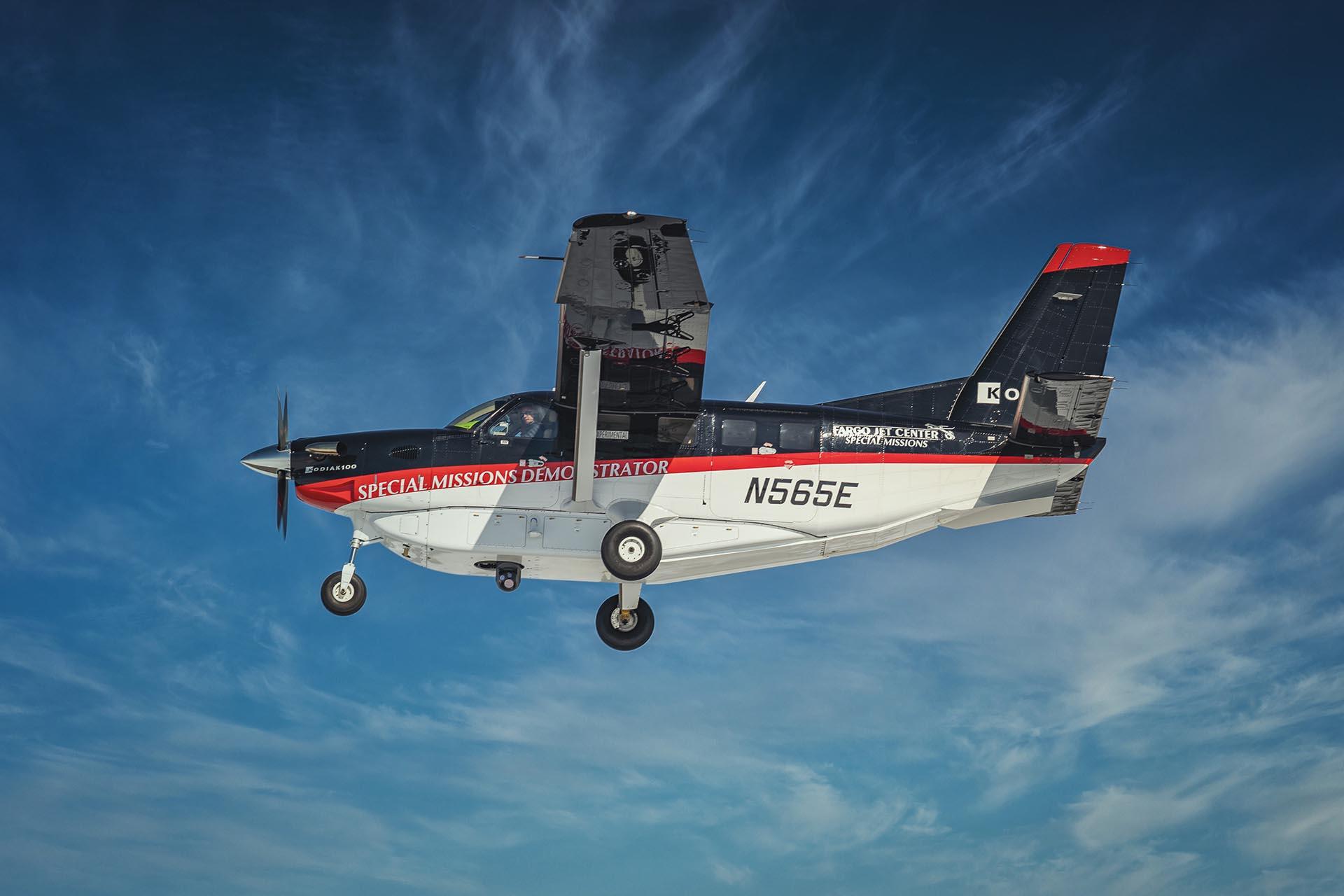 Kodiak Retractable Camera Mount Fargo Jet Center Special MIssions Aircraft