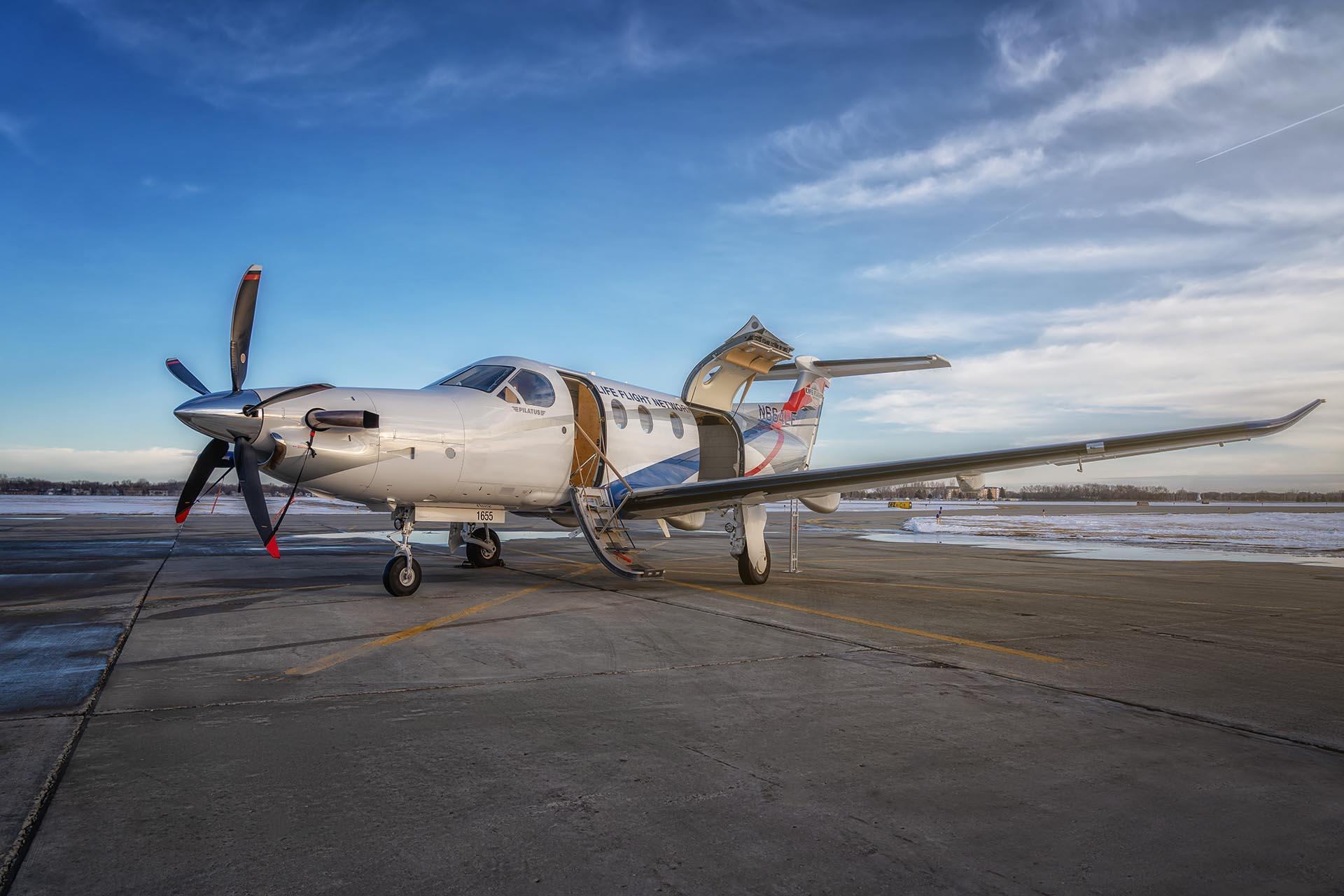 pc12 air medical conversion fargo jet center